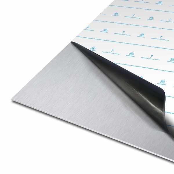 Blech aus Aluminium   EN AW-5754   gewalzt   einseitige Laserfolie mit Schutzfolie