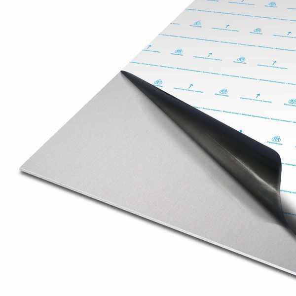 Blech aus Aluminium | EN AW-5005 | eloxiert | E6/EV1 | einseitig foliert mit Schutzfolie