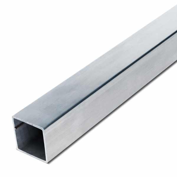 Edelstahl Vierkantrohr K240 geschliffen |1.4301 | V2A