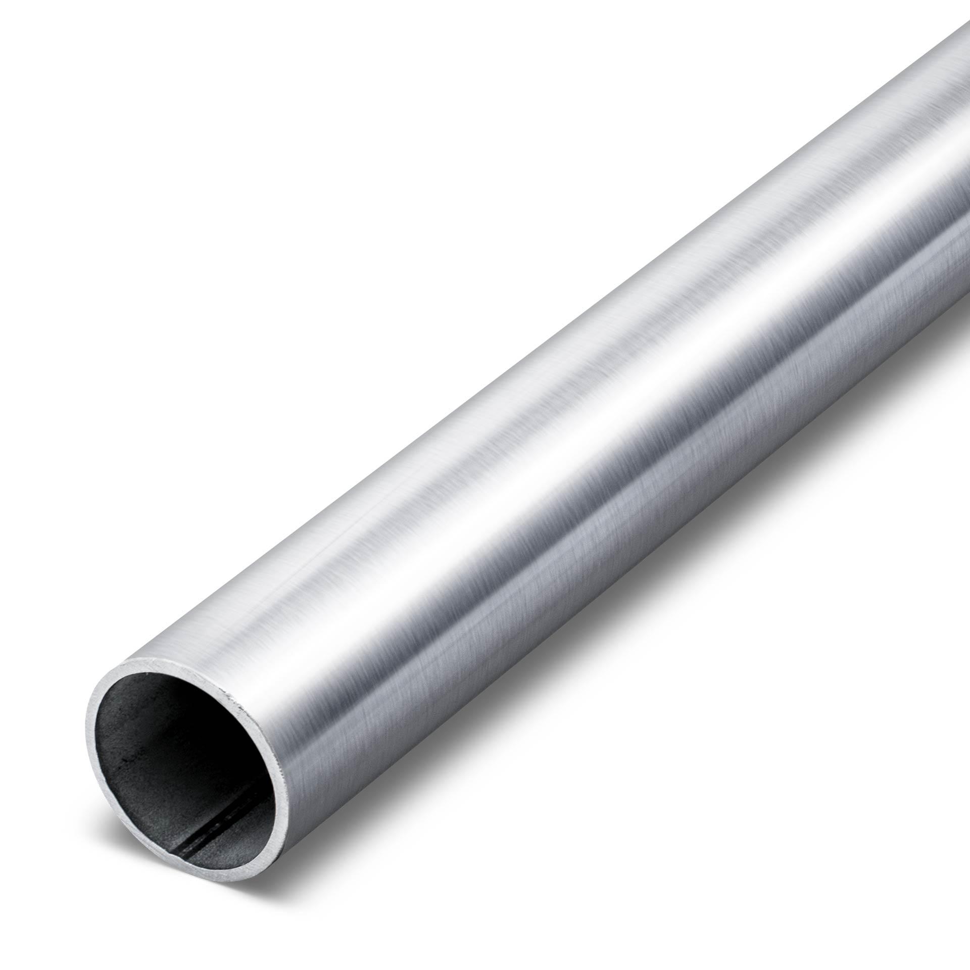 Edelstahlrohr Rundrohr Geländerrohr K240 geschliffen bis 2000mm Länge V2A Rohr