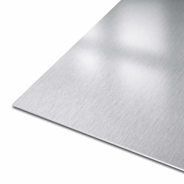 Blech aus Edelstahl | Werkstoff: 1.4301 | EN 10088-2 | einseitig K240 geschliffen